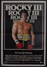 Rocky 3 Poster One Sheet Original 1982 Sylvester Stallone Boxing