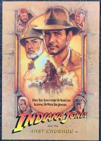 Indiana Jones And The Last Crusade Advance Flyer Harrison Ford Drew Struzan art