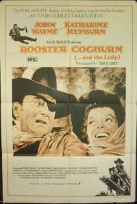 Rooster Cogburn 1975 John Wayne Katherine Hepburn One Sheet movie poster