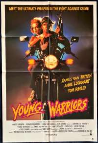 Young Warriors Movie Poster Original One Sheet 1983 Biker art Richard Roundtree