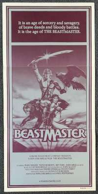 The Beastmaster Daybill Poster 1982 Tanya Roberts Marc Singer
