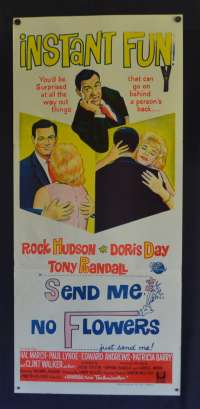 Send Me No Flowers Poster Original Daybill 1964 Rock Hudson Doris Day Tony Randall