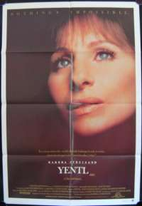 Yentl Barbara Streisand Mandy Patkin One Sheet movie poster
