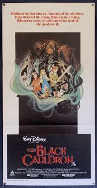 The Black Cauldron Movie Poster Original Daybill Disney