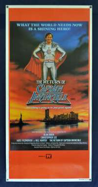 The Return Of Captain Invincible Movie Poster Original Daybill 1983 Bill Hunter