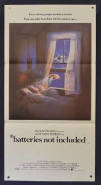 Batteries Not Included Movie Poster Original Daybill 1987 Drew Struzan Art