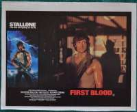 First Blood Lobby Poster Original 11x14 No.6 Sylvester Stallone Rambo