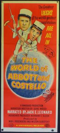 The World Of Abbott And Costello Poster Original Daybill 1965 Bud Abbott Lou Costello