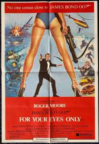 For Your Eyes Only movie poster Roger Moore James Bond One Sheet