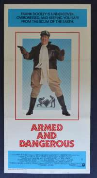 Armed And Dangerous Movie Poster Original Daybill 1986 John Candy Meg Ryan
