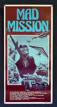 Mad Mission Movie Poster Original Daybill 1982 ROLLED Never Folded Aces Go Places