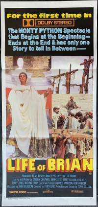 Monty Python's The Life Of Brian Poster Daybill RARE Cast Art