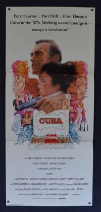 Cuba 1979 Daybill movie poster Sean Connery Brooke Adams