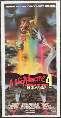A Nightmare On Elm Street 4 Poster Daybill Original Horror Robert Englund