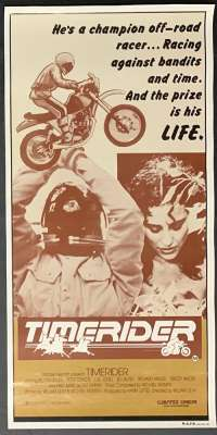 Timerider Movie Poster Original Rolled Daybill 1982 Dirt Bike Racing Fred Ward