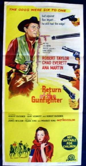 Return Of The Gunfighter 1967 Robert Taylor Daybill movie poster