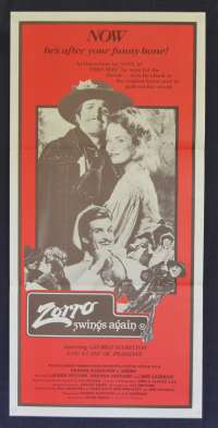 Zorro Swings Again Movie Poster Original Daybill 1981 Zorro The Gay Blade