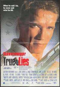 True Lies Movie Poster One Sheet Schwarzenegger Jamie Lee Curtis