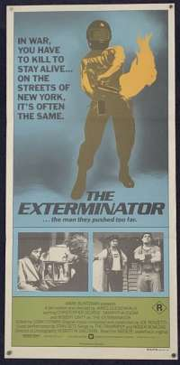 The Exterminator 1980 Daybill movie poster Robert Ginty Vigilante