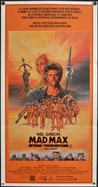 Mad Max 3 Beyond Thunderdome Movie Poster Original Daybill Mel Gibson