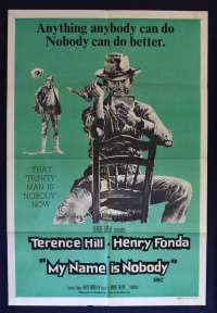 My Name Is Nobody Movie Poster Original One Sheet 1973 Henry Fonda Terence Hill