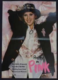 Pretty In Pink Poster Special Cinema Release 1986 Molly Ringwald Andrew McCarthy