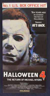 Halloween 4:The Return of Michael Myers Daybill movie poster John Carpenter