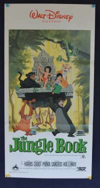 The Jungle Book 1967 Daybill movie poster 1980's Re-Issue Disney