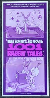 Bugs Bunny 3rd Movie 1001 Rabbit Tales Poster Original Daybill 1982 Looney Tunes