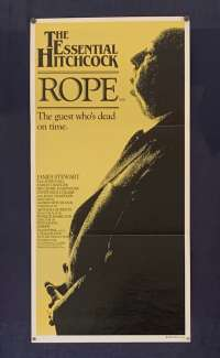 Rope Movie Poster Original Daybill Re-Issue James Stewart Alfred Hitchcock
