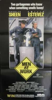 Men At Work Daybill Movie poster