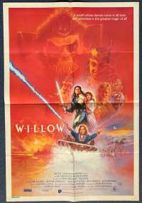 Willow Movie Poster Original One Sheet 1988 Val Kilmer George Lucas