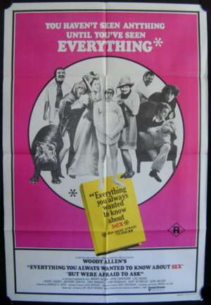 Everything You Always Wanted to Know About Sex Poster One Sheet Woody Allen