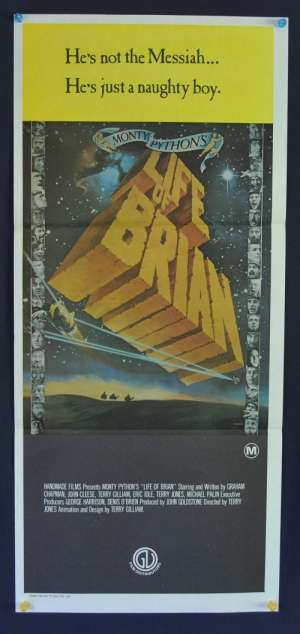 Monty Python's The Life Of Brian Poster Original Daybill 1979 John Cleese