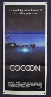 Cocoon 1985 Daybill movie poster Steve Guttenburg Don Ameche