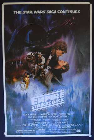 The Empire Strikes Back 1980 One Sheet movie poster Reprint Harrison Ford Star Wars