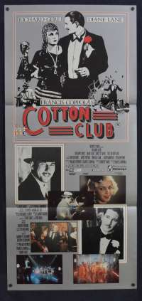 The Cotton Club 1984 Daybill movie poster Richard Gere Diane Lane Coppola
