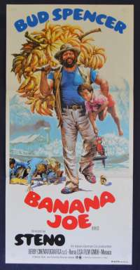Banana Joe Movie Poster Original Daybill 1982 Bud Spencer Steno