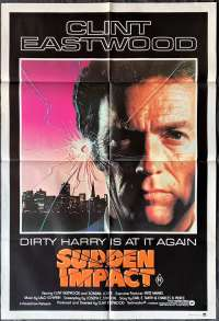 Sudden Impact 1983 One Sheet movie poster Clint Eastwood Dirty Harry