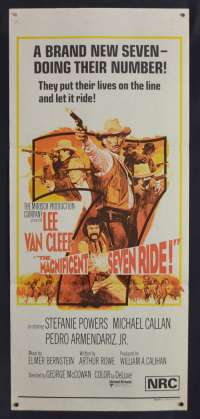 The Magnificent Seven Ride 1972 Lee Van Cleef Daybill Movie poster