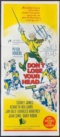 Don't Lose Your Head Daybill Poster 1966 Rare Sid James Kenneth Williams
