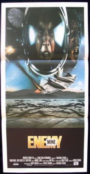 Enemy Mine 1985 Daybill movie poster Dennis Quaid