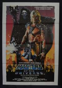 Masters Of The Universe Poster Rare Original One Sheet 1987 Dolph Lundgren