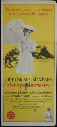 Go Between Daybill movie poster 1970 Julie Christie Alan Bates