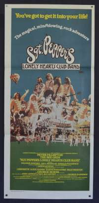 Sgt Pepper's Lonely Hearts Club Band 1978 Daybill Movie Poster Bee Gees Beatles Music Peter Frampton