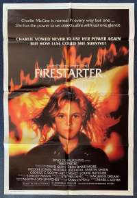 Firestarter 1984 One Sheet movie poster Drew Barrymore Martin Sheen Stephen King Horror