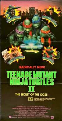 Teenage Mutant Ninja Turtles II - The Secret Of The Ooze 1991 Poster Daybill