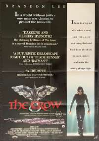 The Crow Movie Poster Original One Sheet 1994 Brandon Lee