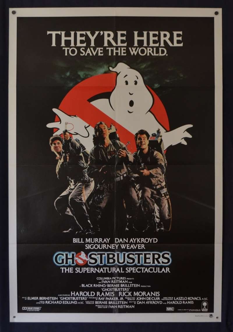 All About Movies Ghostbusters Movie Poster Original One Sheet 1984