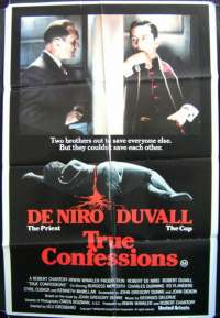 True Confessions - Robert De Niro One Sheet Australian Movie poster